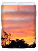 #halloween #morning #sky Is On #fire Duvet Cover