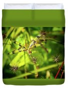 Halloween Pennant Dragonfly Duvet Cover