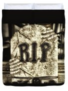 Halloween Rip Rest In Peace Headstone Duvet Cover