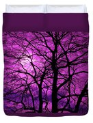 Halloween Trees No 3 By Dm Carpenter Duvet Cover