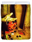 Halloween Trick Of Treats Background Duvet Cover