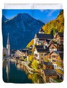 Hallstatt In Fall Duvet Cover