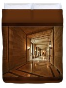 Hallway In City Hall Sf Duvet Cover
