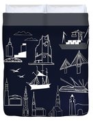 Hamburg In Miniature Duvet Cover