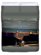 Hamilton Harbor- Pier 8 Duvet Cover