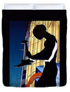 Hammering Man Duvet Cover by Tim Allen