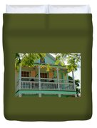 Hammocks In Paradise Duvet Cover