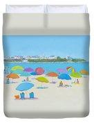 Hampton Beach And Boars Head Duvet Cover