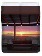Hampton Beach Sunrise Hampton Beach State Park Hampton Nh Bench 2 Duvet Cover