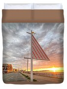 Hampton Beach Sunrise Hampton Beach State Park Hampton Nh Flag Duvet Cover