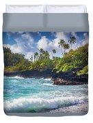 Hana Bay Waves Duvet Cover