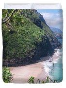 Hanakapiai Beach - Kalalau Trail - Kauai Hawaii Duvet Cover