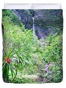 Hanakapiai Valley Duvet Cover