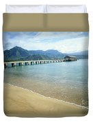 Hanalei Bay And Pier Duvet Cover