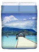 Hanalei Bay And Pier Duvet Cover