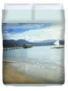 Hanalei Bay Outrigger Duvet Cover