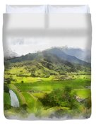 Hanalei Valley Duvet Cover