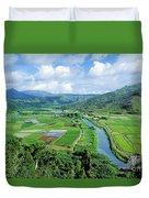 Hanalei Valley Taro Field Duvet Cover
