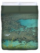 Hanauma Bay Reef And Snorkelers Duvet Cover