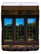 Hand Hewn Oak Frames Duvet Cover