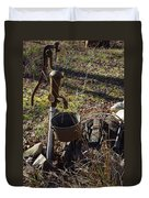 Hand Pump In The Fall Duvet Cover