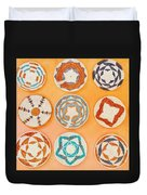 Native American Woven Straw Art Duvet Cover