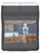 Handala And The Wall Duvet Cover