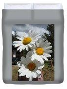 Handful Of Daisies Duvet Cover