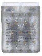 Handmade Paper Never Sent Duvet Cover