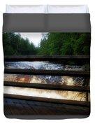 Handrails Tahquamenon Lower Falls Upper Peninsula Michigan 02 Duvet Cover