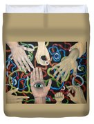 Hands And Eyes Duvet Cover