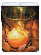 Hands By Candlelight Duvet Cover