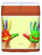 Hands In Art Duvet Cover