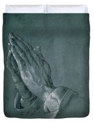 Hands Of An Apostle Duvet Cover