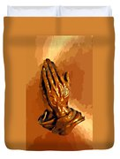 Hands Of God  Duvet Cover