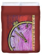 Hands Of Time Duvet Cover