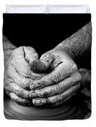 Hands That Shape Duvet Cover