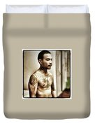 Handsome Man With Tattoos. #thailife Duvet Cover