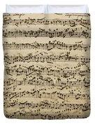 Handwritten Score For Mass In B Minor Duvet Cover