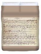 Handwritten Score For Waltz For Piano, Opus 39 Duvet Cover