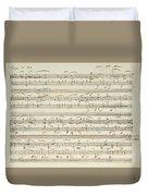 Handwritten Score For Waltz In Flat Major Duvet Cover
