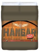 Hangar Bar Entrance Sign Duvet Cover