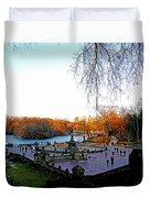 Hangin' At Bethesda Fountain Duvet Cover