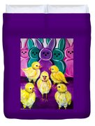 Hangin' With My Peeps Duvet Cover