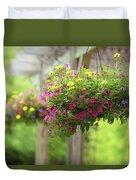 Hanging Baskets Duvet Cover