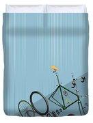 Hanging Bike Duvet Cover