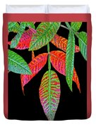Hanging Green And Red Leafs... Duvet Cover