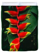 Hanging Heliconia Duvet Cover