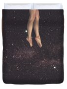 Hanging In Space Duvet Cover
