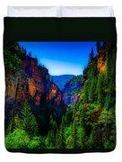 Hanging Lake Trail Duvet Cover